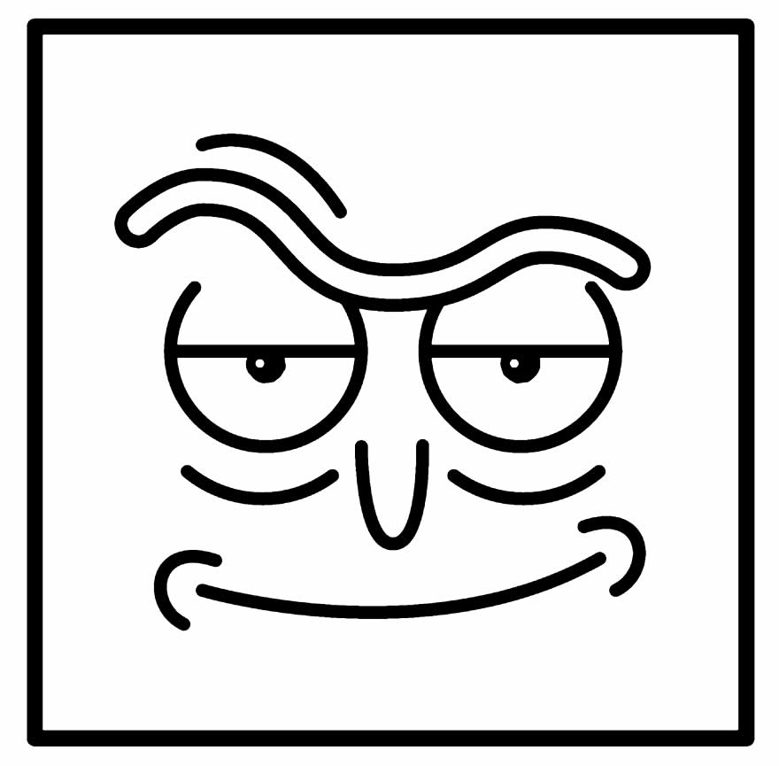 Desenho de Rick e Morty