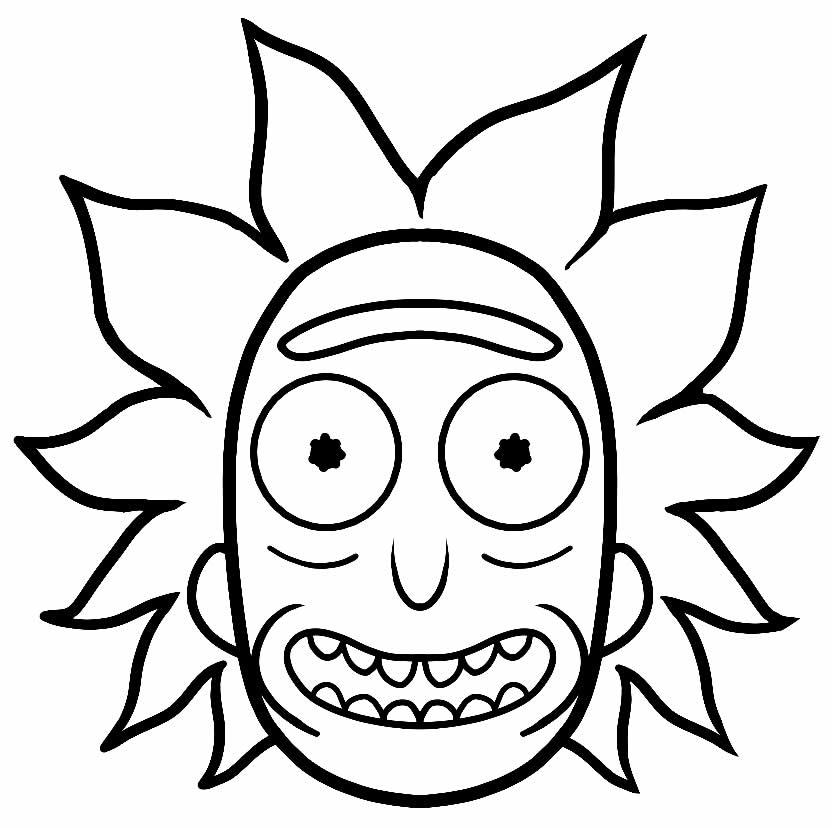 Desenho de Rick e Morty para imprimir e colorir