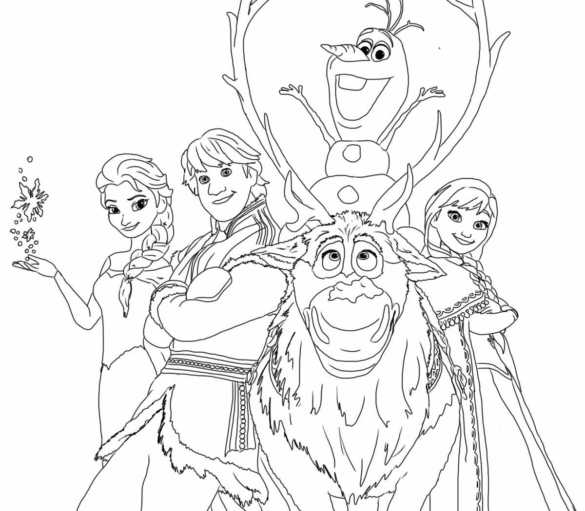 Olaf para colorir