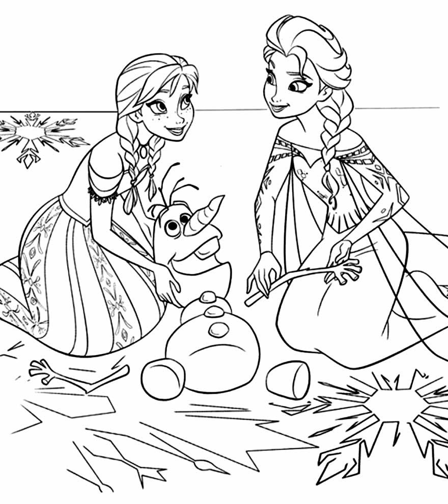 Desenho de Olaf para colorir