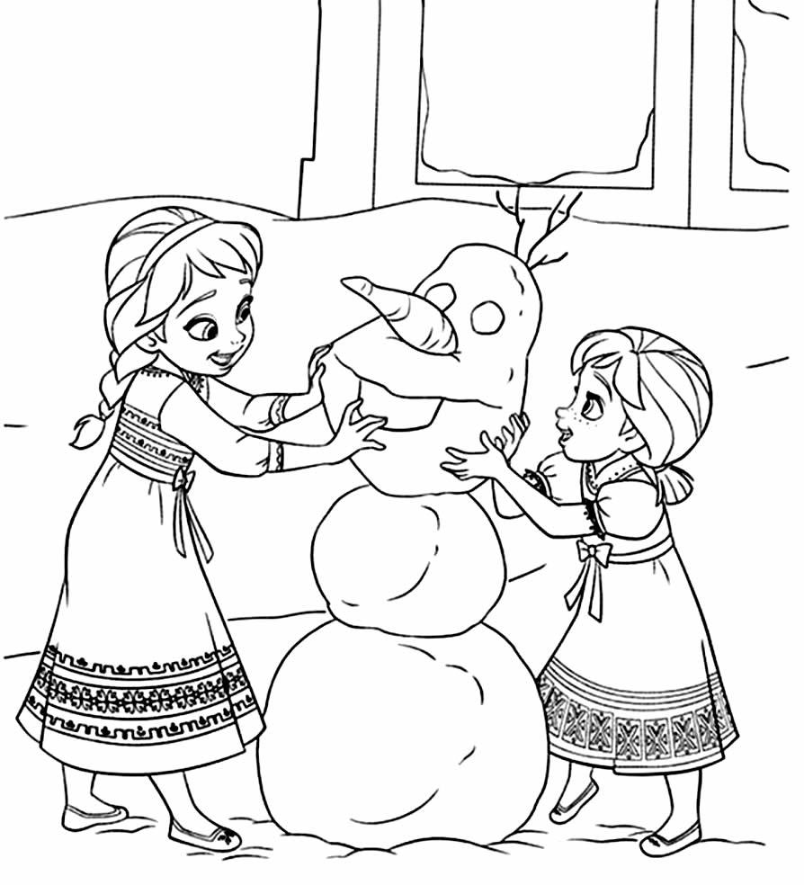 Desenho para colorir de Olaf