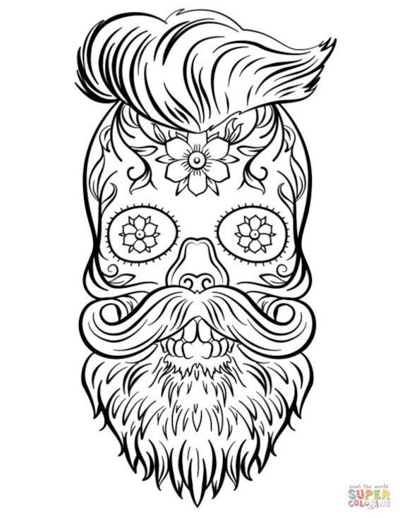 com barba e bigode