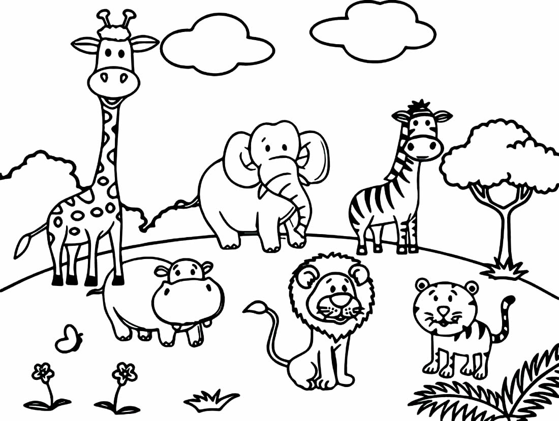 Desenhos para colorir de Animais e Bichinhos