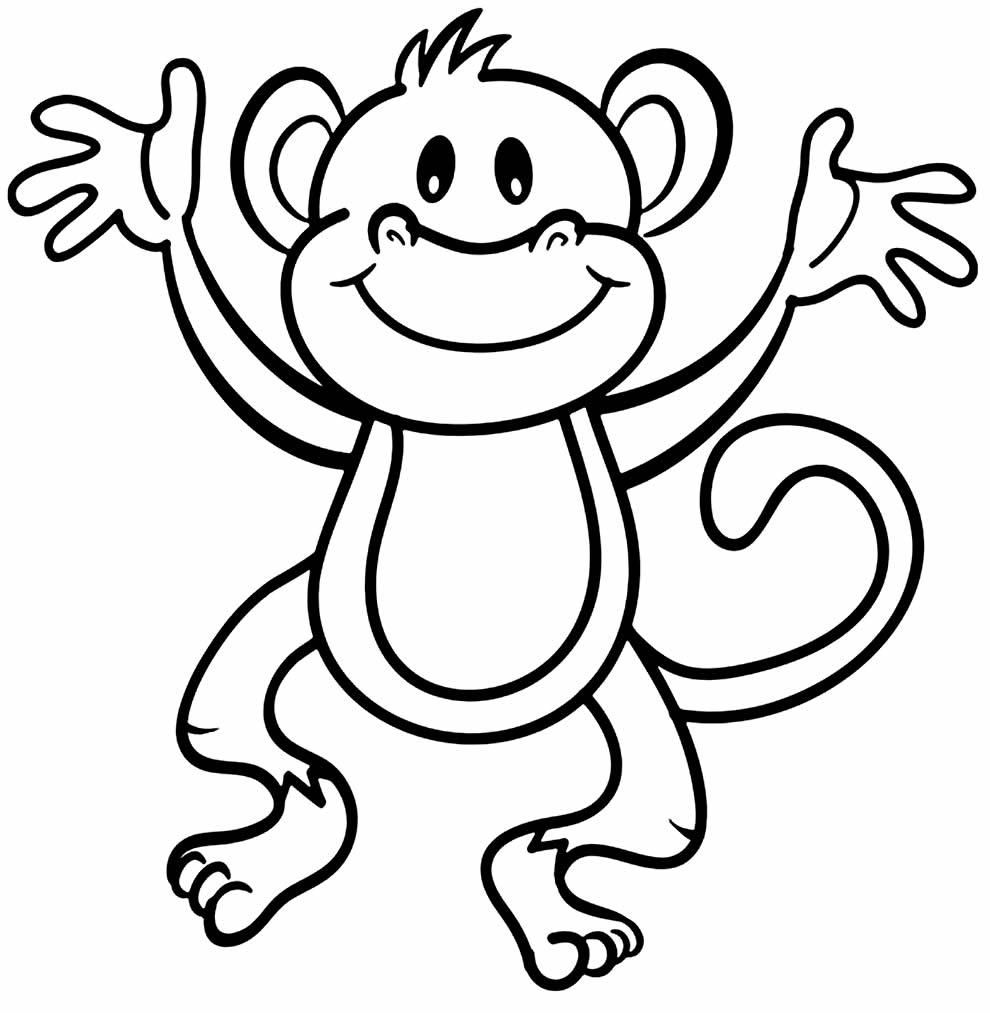 Desenho para colorir de macaco