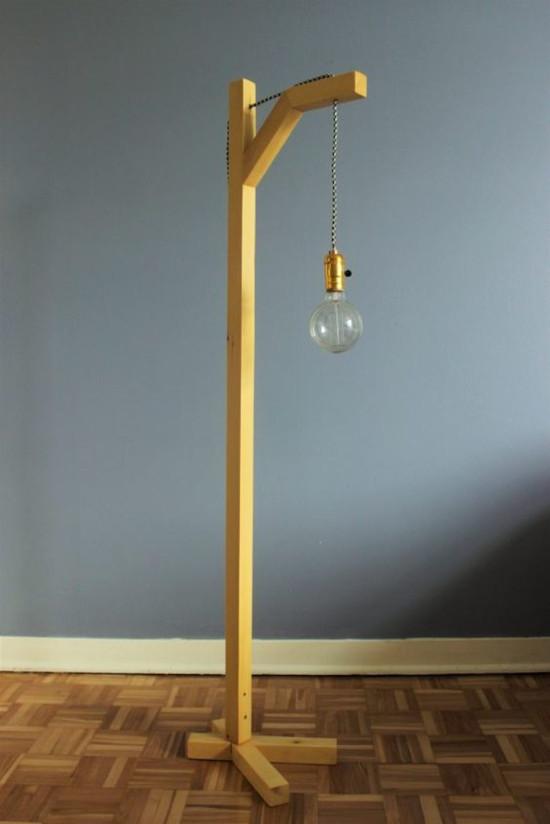Luminária de pallet para solo
