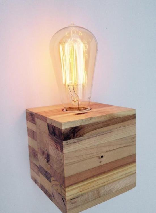 luminária de pallet