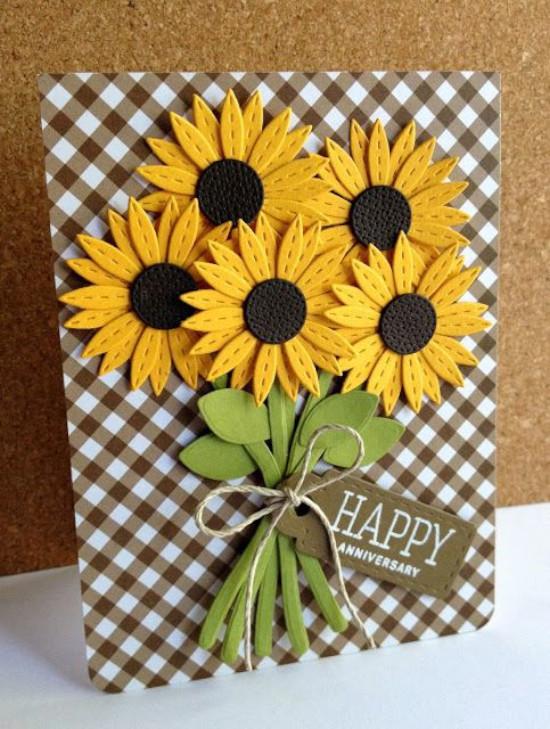 cartão com flores para mãe