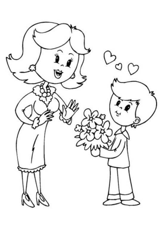 Dia das Mamãe para pintar
