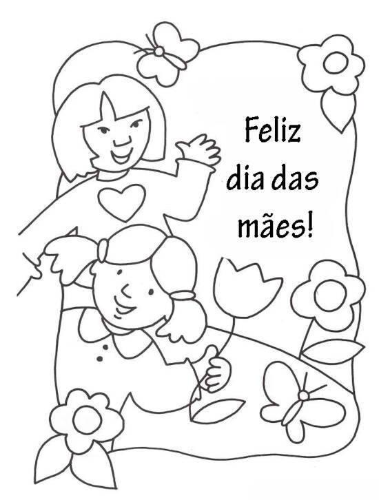 Dia das Mães para colorir