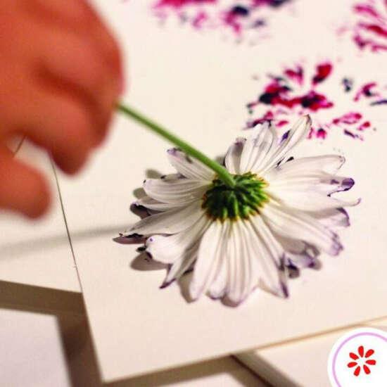 carimbo com flores