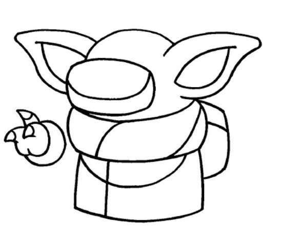 desenho do baby yoda para colorir mandalorian
