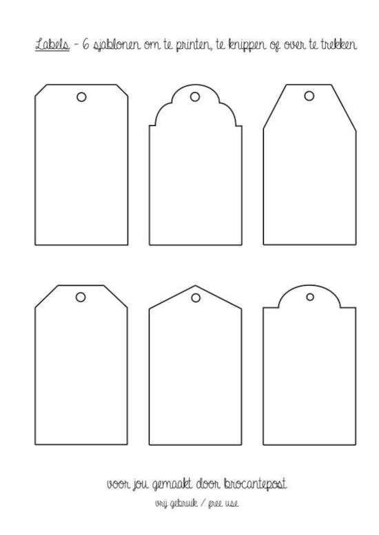 etiqueta para imprimir