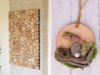 Artesanatos com madeira rústica