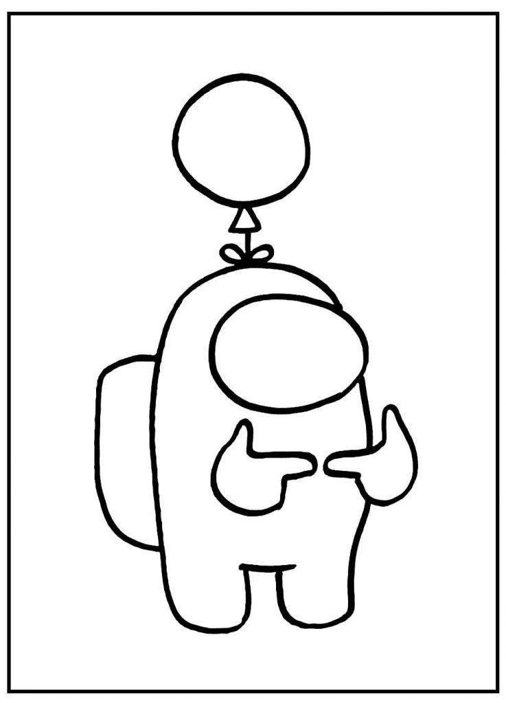 Desenho para colorir de Among Us