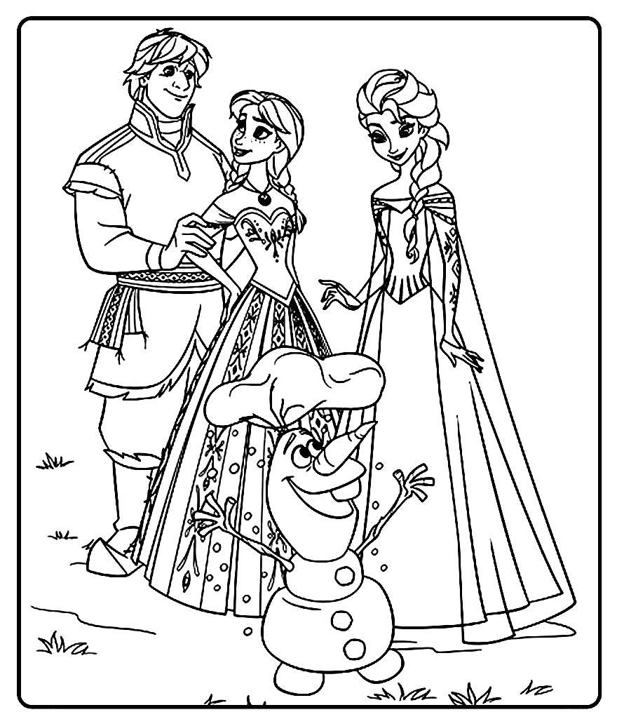 Página para colorir do Olaf