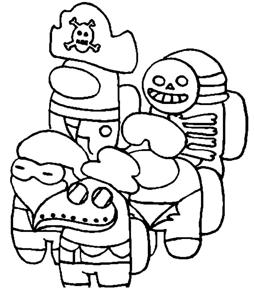 Desenho de Among Us para colorir e pintar