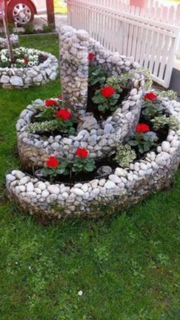 canteiro em espiral jardineira circular