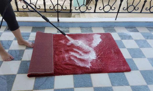 lavagem de tapete