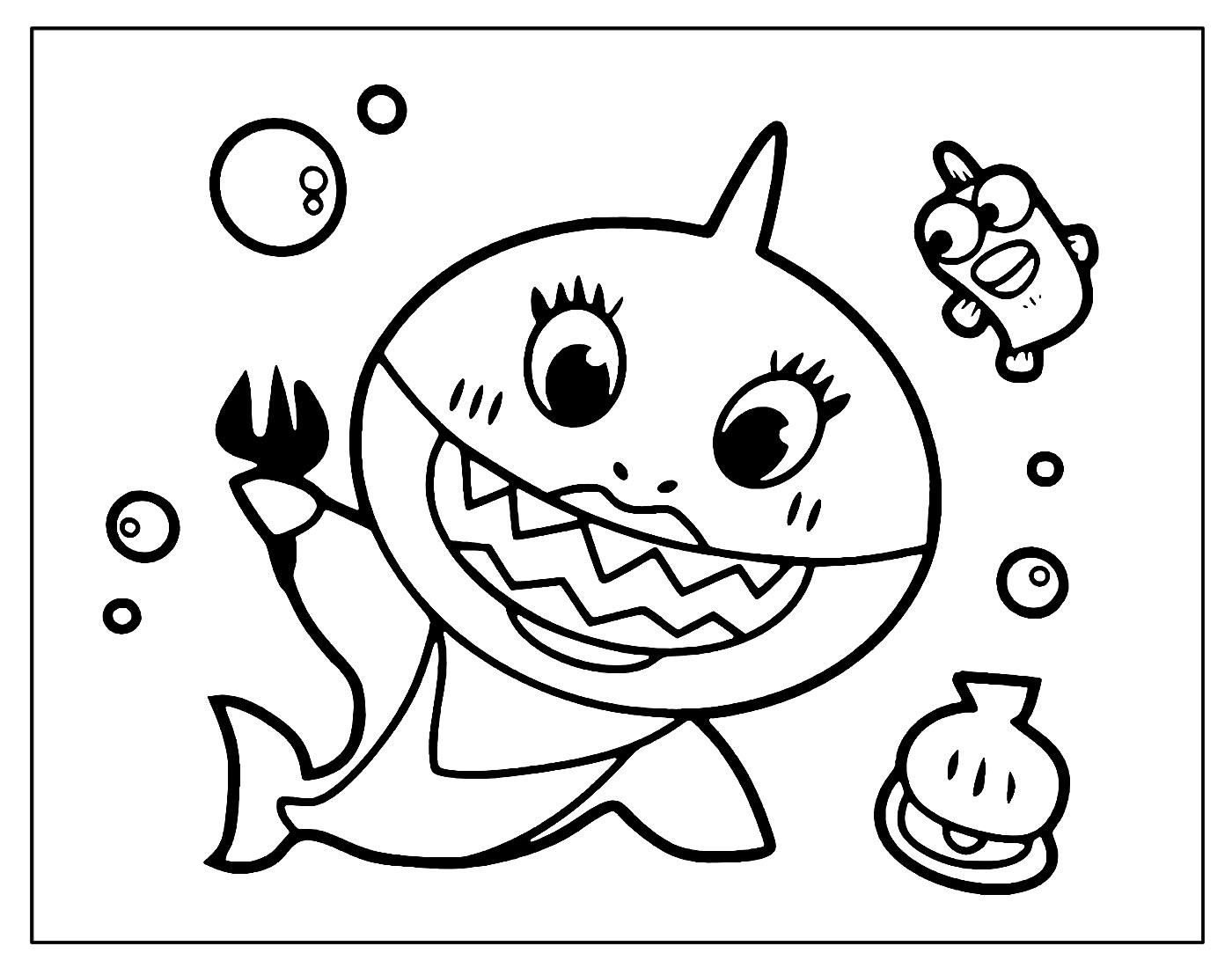 Desenho para colorir Baby Shark