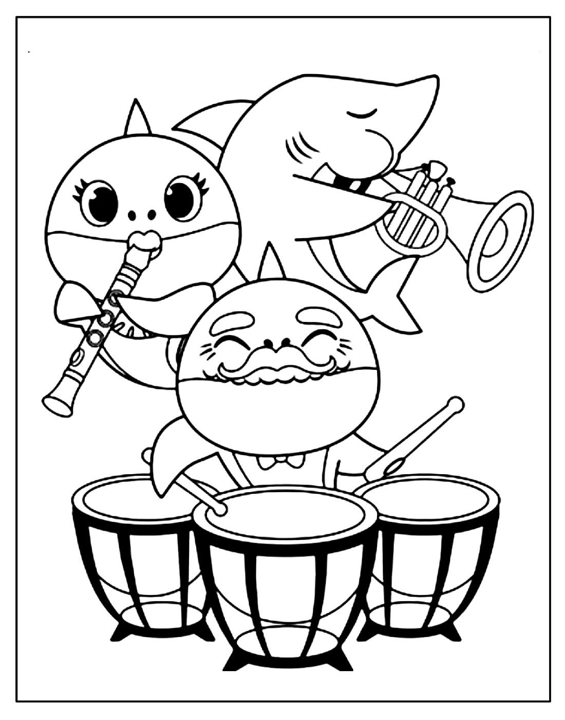 Desenho para colorir de Baby Shark