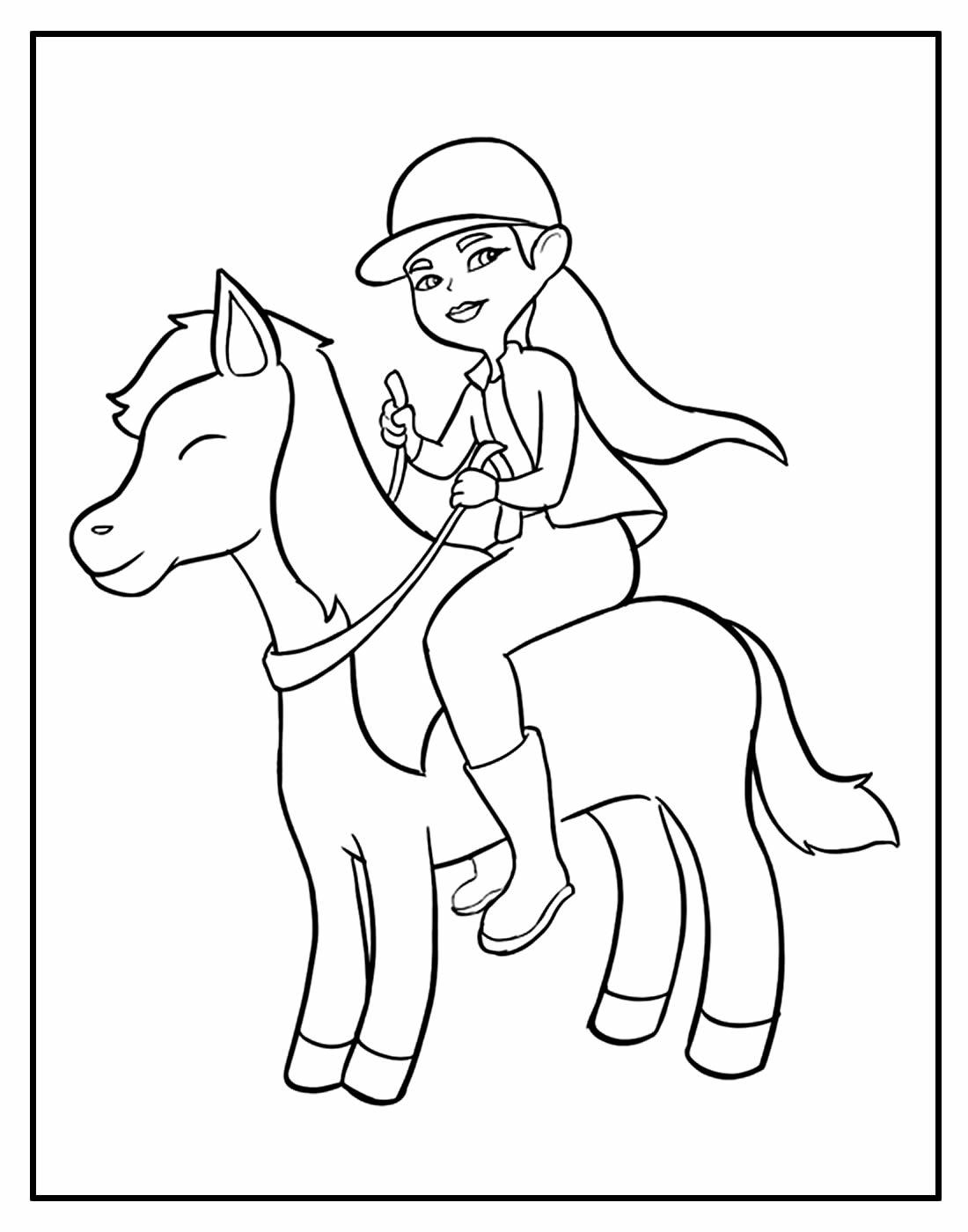 Página para colorir de Cavalo