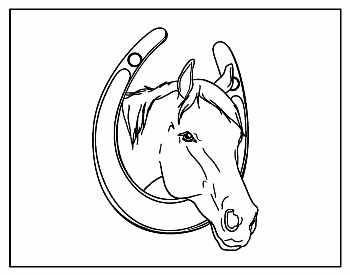 Desenho para colorir de Cavalo
