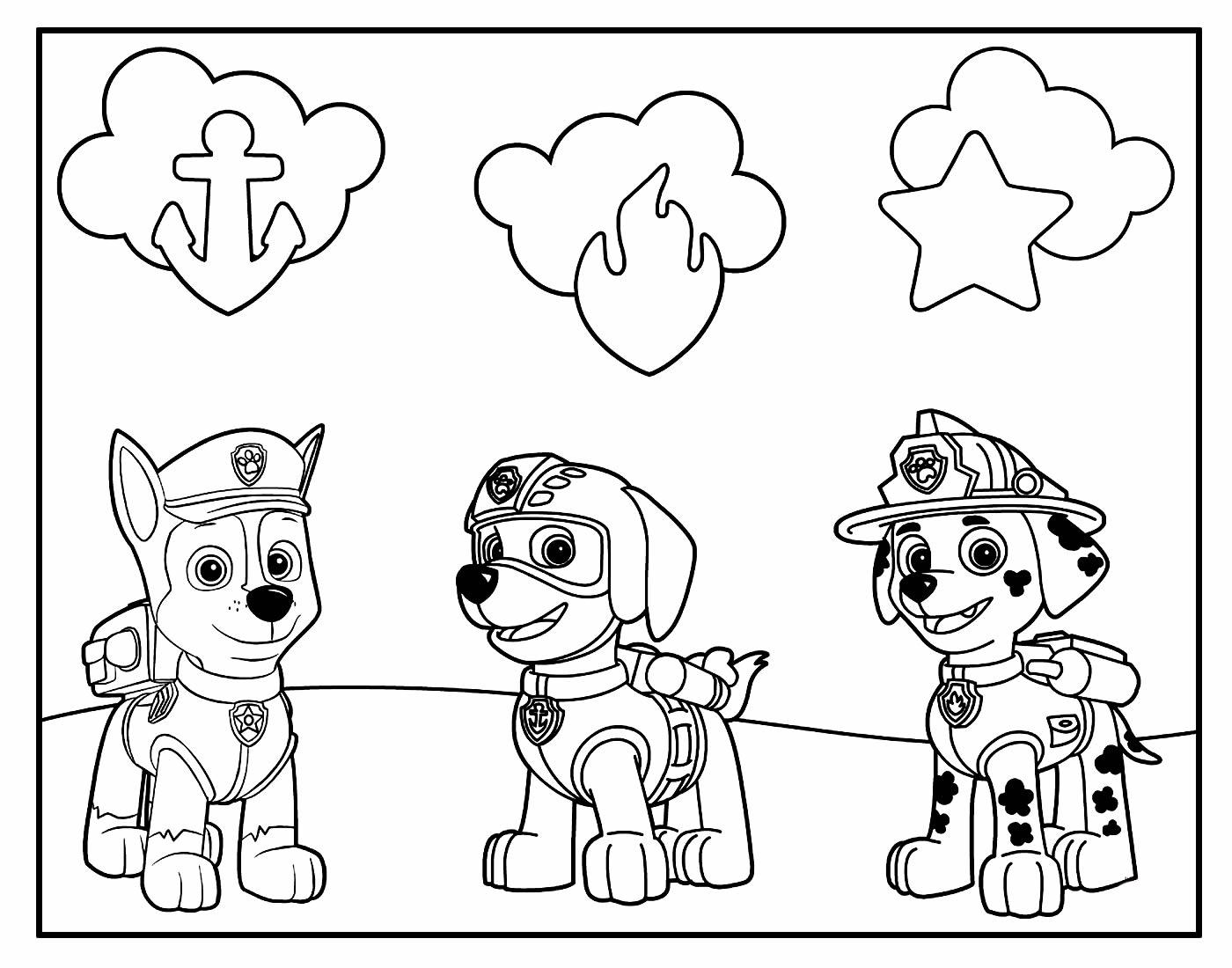 Desenho dos cachorros da Patrulha Canina