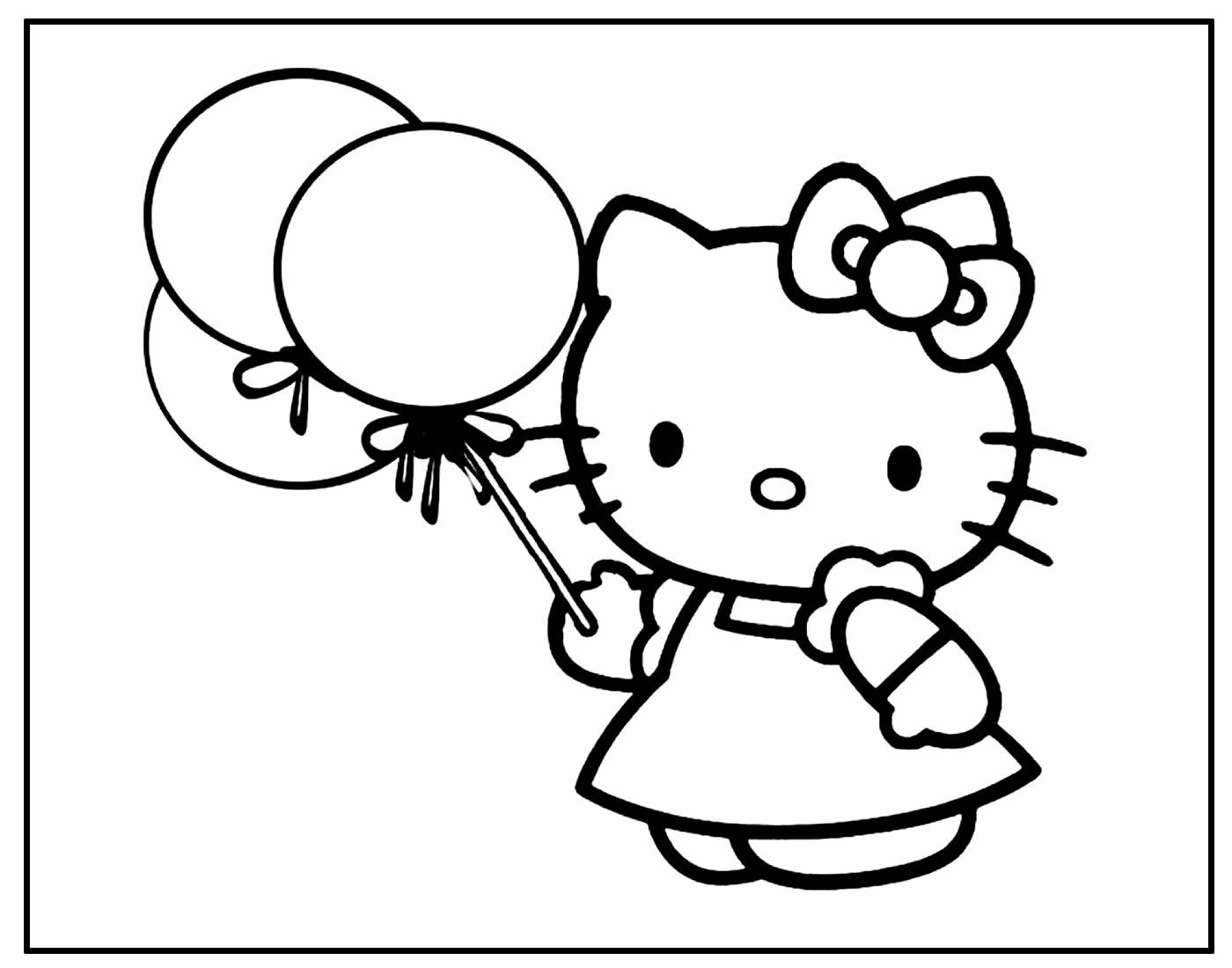 Desenho para pintar da Hello Kitty
