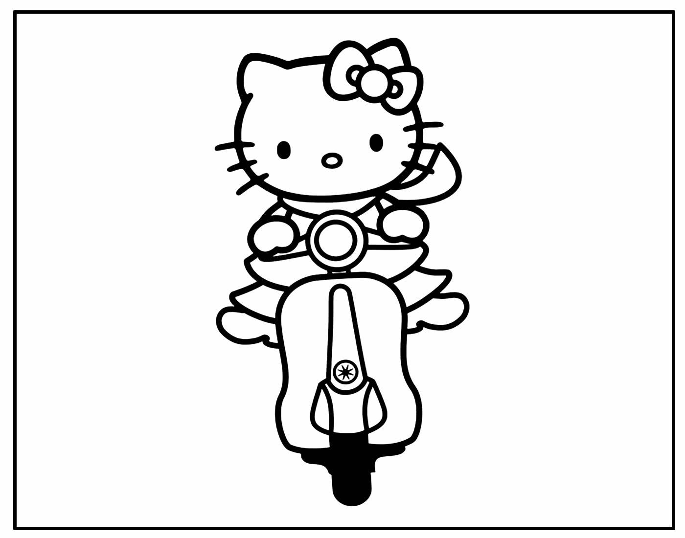 Desenho da Hello Kitty para pintar