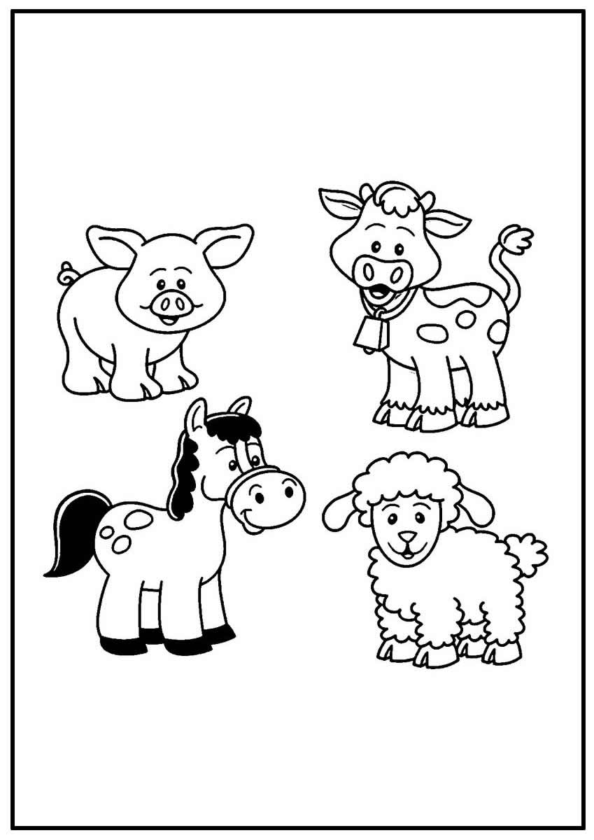 Página para colorir de Animais da Fazenda