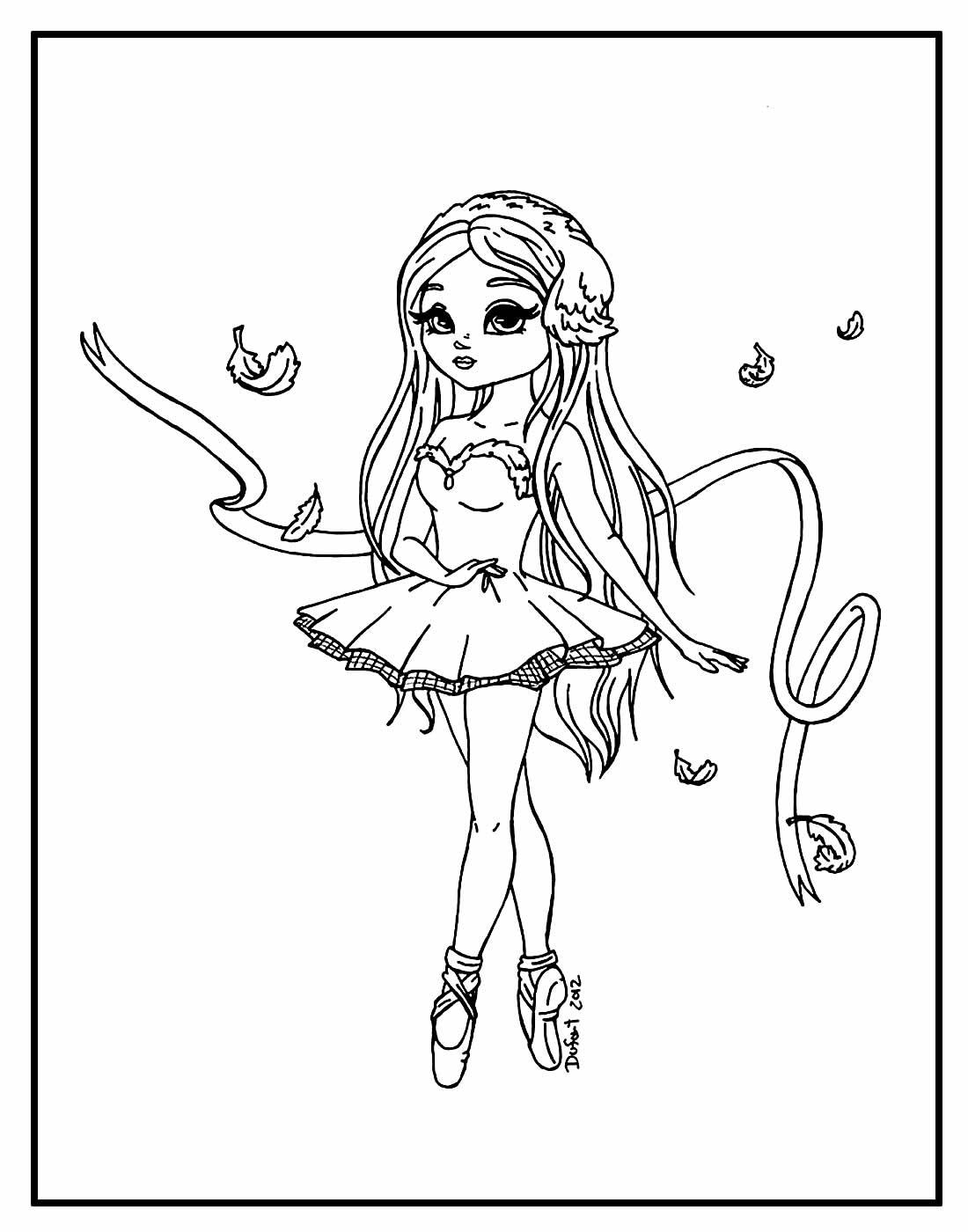 Página para colorir de Bailarina