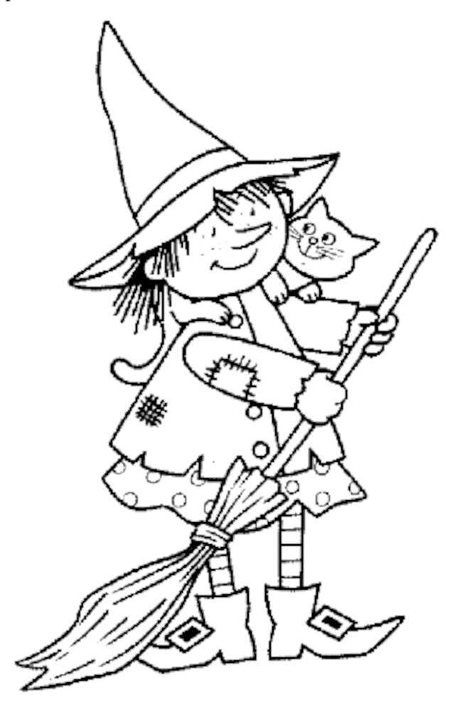 desenhos de bruxas para colorir
