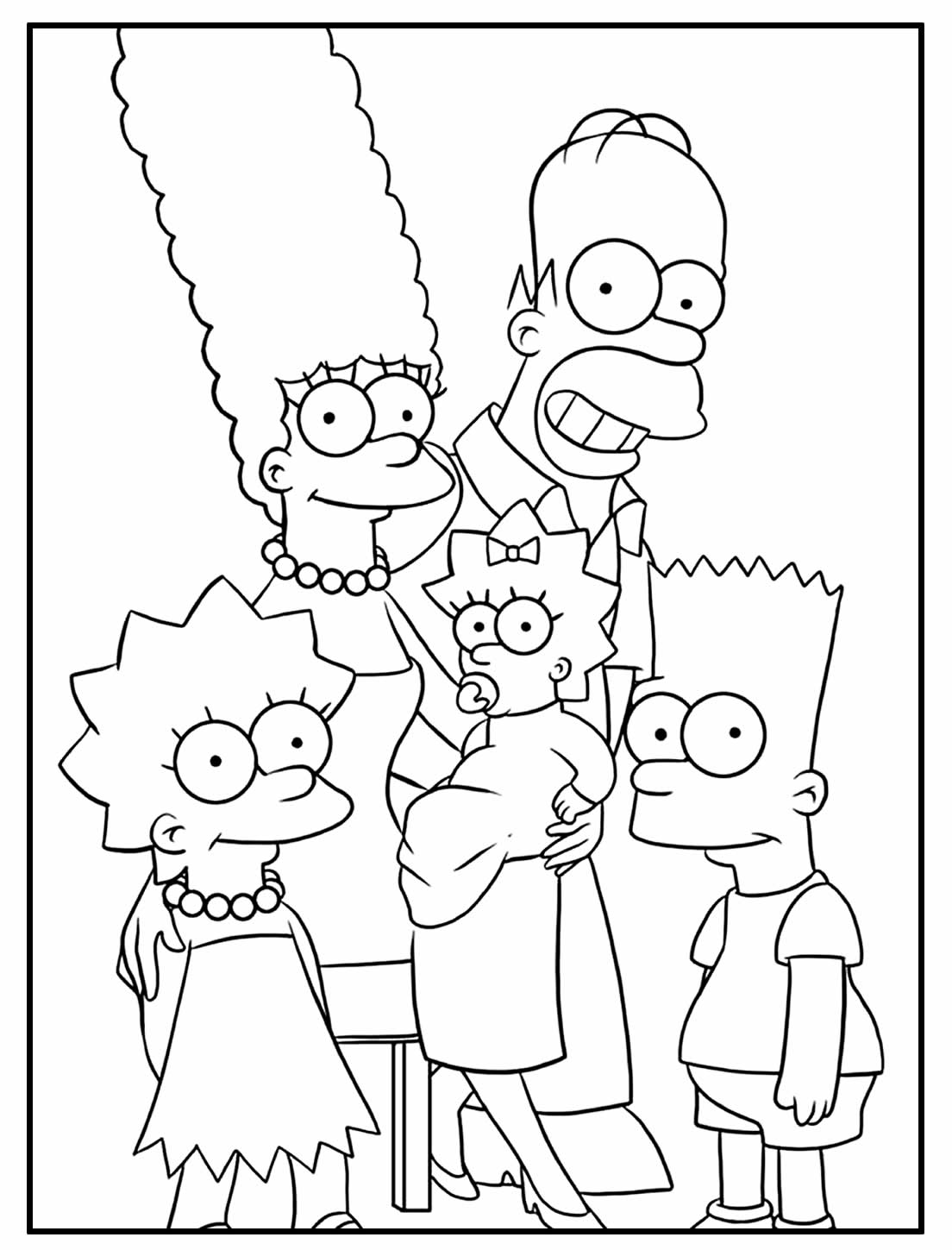 Desenhos dos Simpsons para colorir em casa