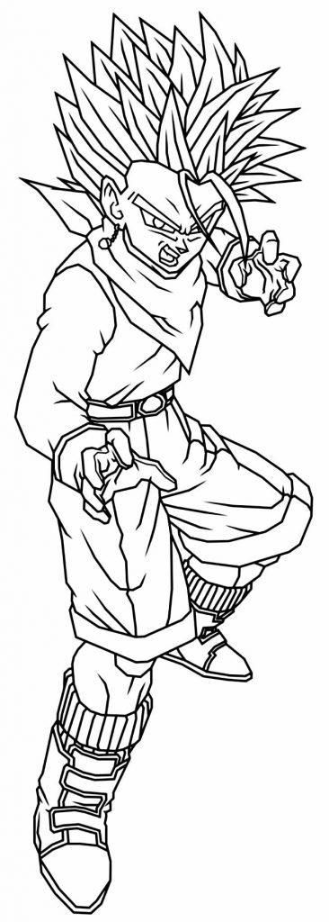 Imagem de Dragon Ball Z para pintar