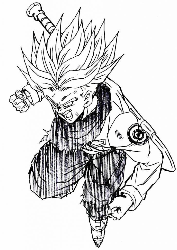 Lindo desenho de Dragon Ball Z