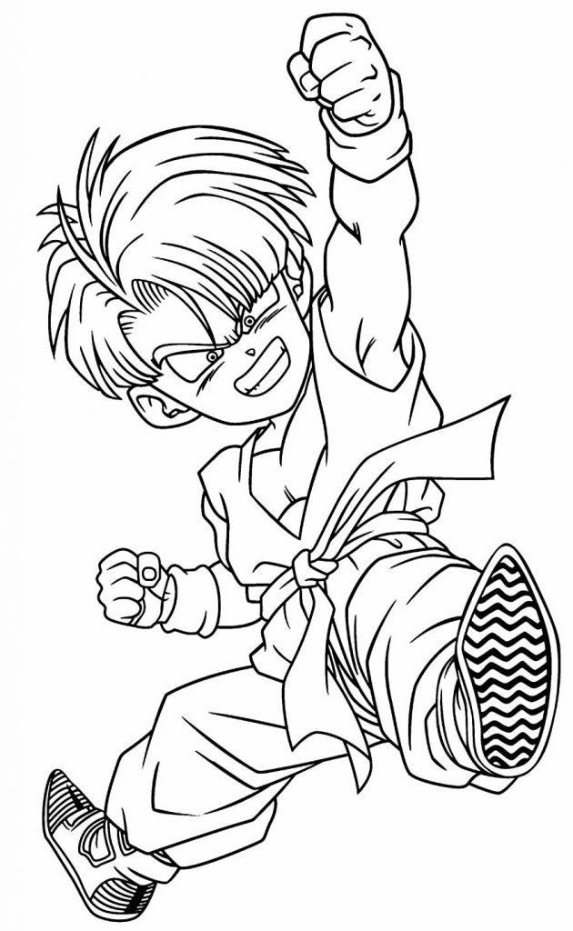 Desenho de Trunks para colorir - Dragon Ball Z