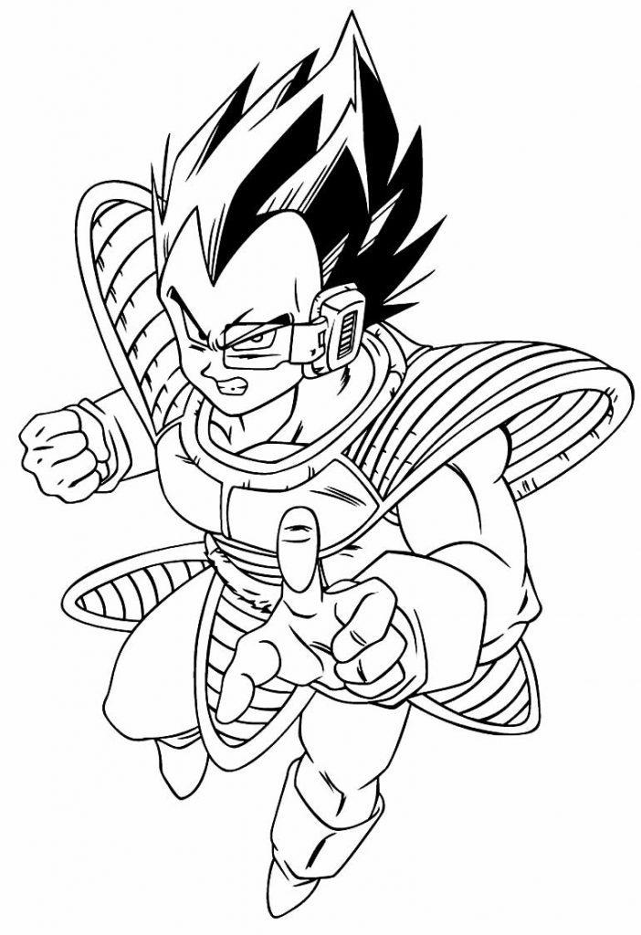 Desenho de Vegeta para colorir - Dragon Ball Z