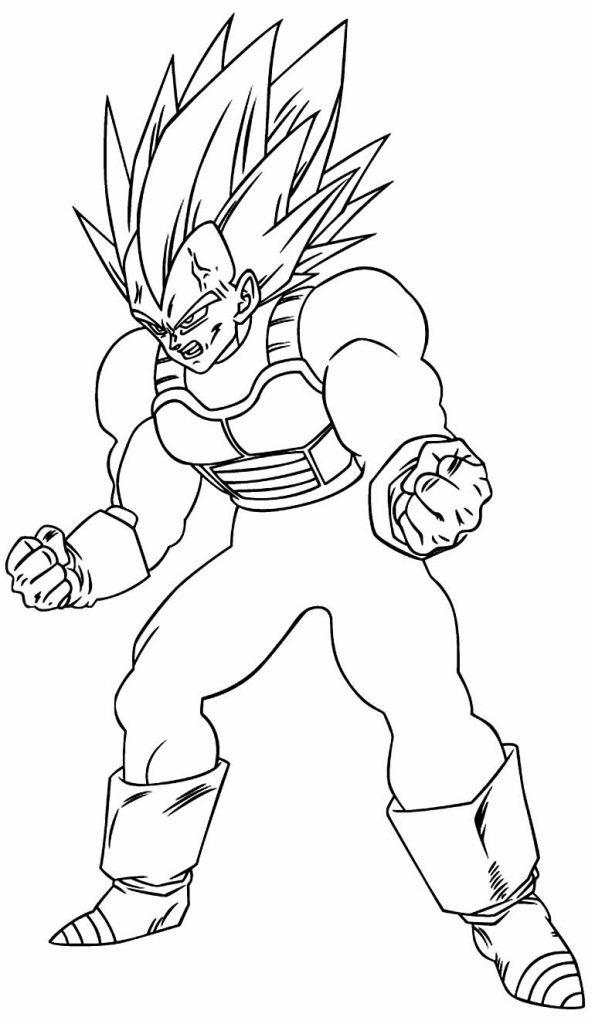 Desenho para colorir - Dragon Ball Z
