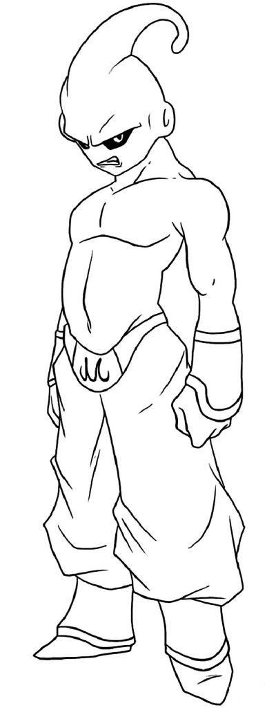 Desenho de Majin Buu para pintar - Dragon Ball Z