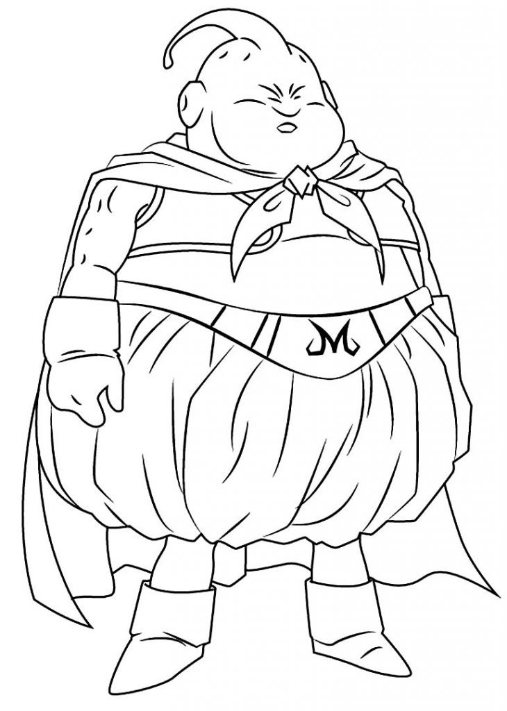 Desenho de Majin Buu para colorir - Dragon Ball Z