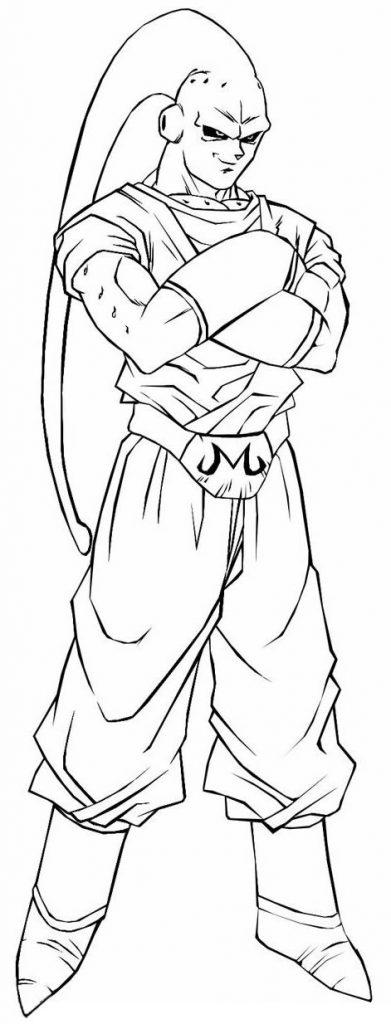 Imagem de Majin Buu para colorir - Dragon Ball Z