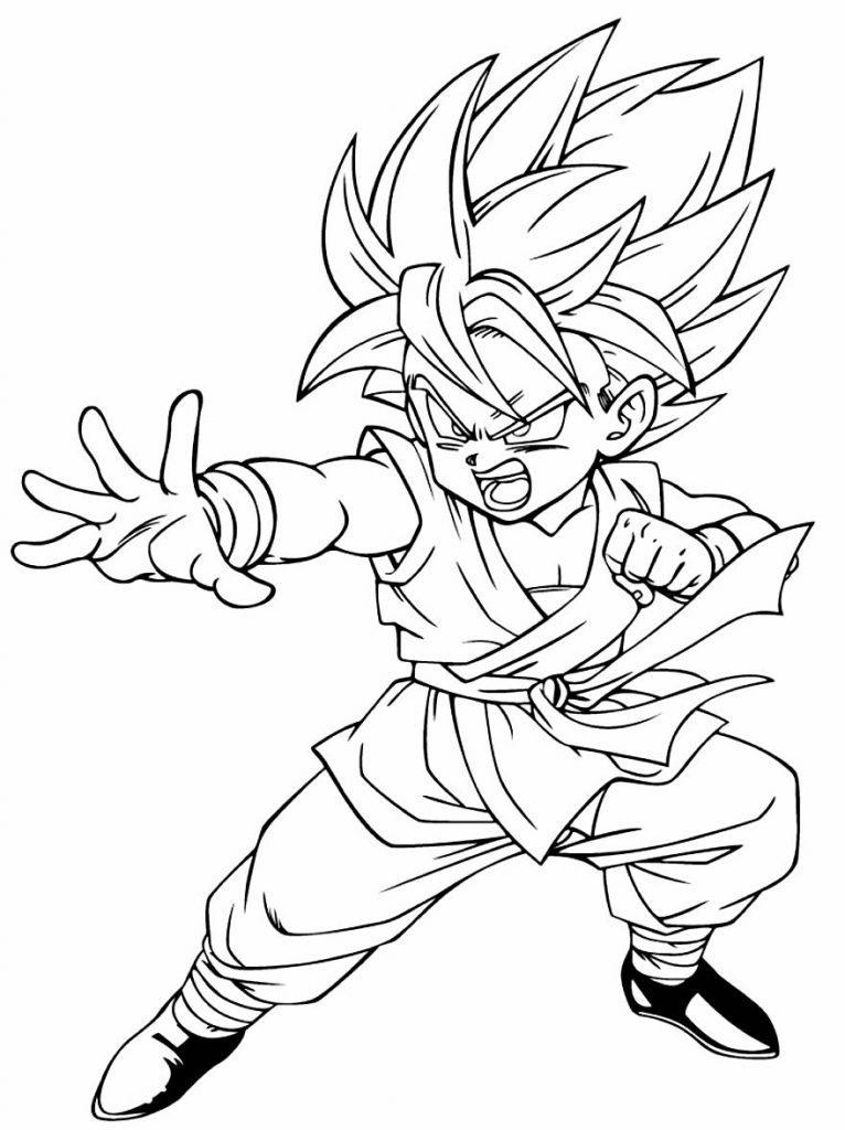Desenho de Dragon Ball Z para pintar