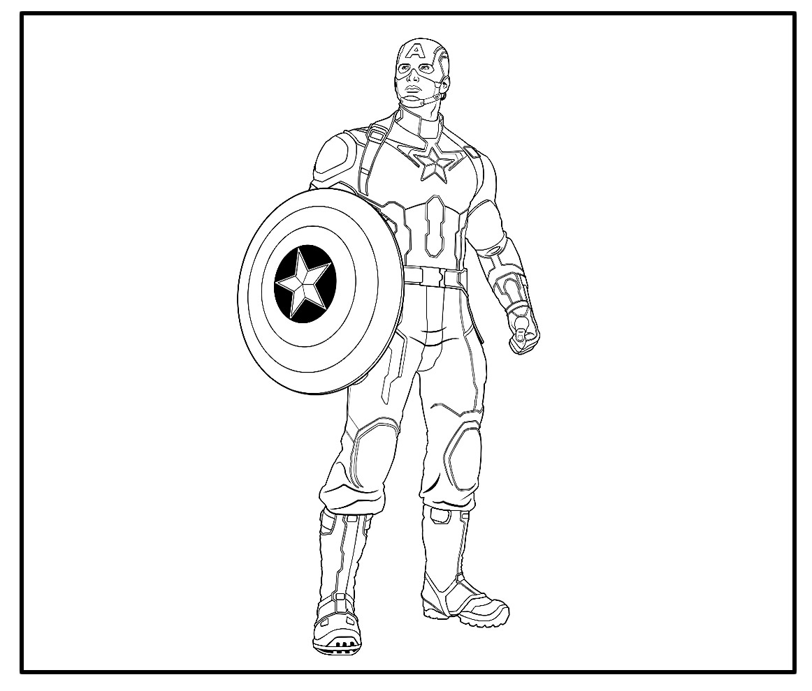 Belos desenhos do Capitão América