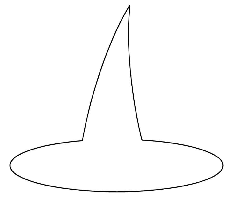 Molde de chapéu de bruxa