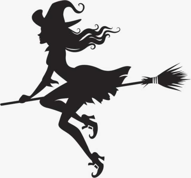 moldes de bruxa para halloween