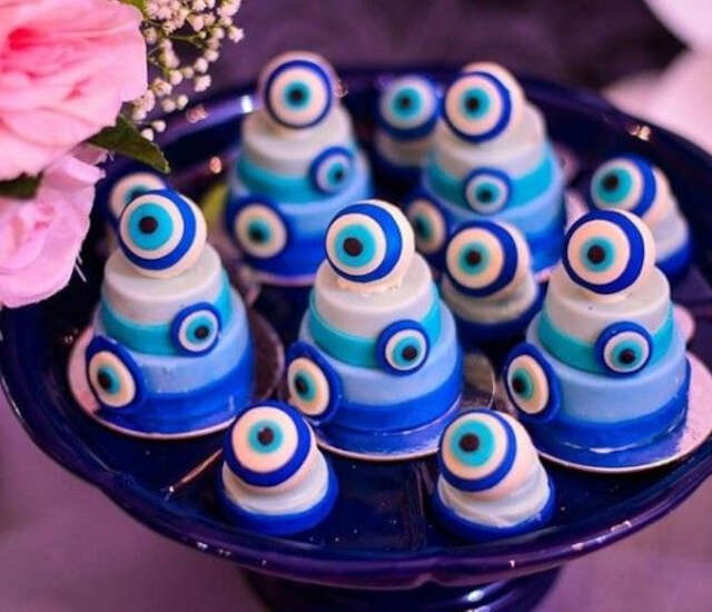 mini bolo Festa tema Olho Grego
