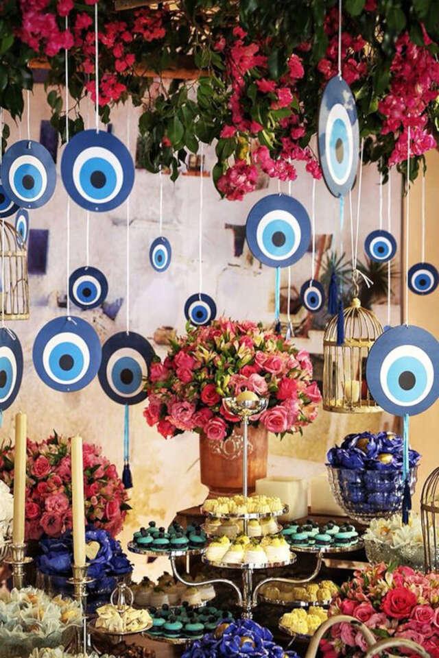 móbiles para deocração de festa olho grego