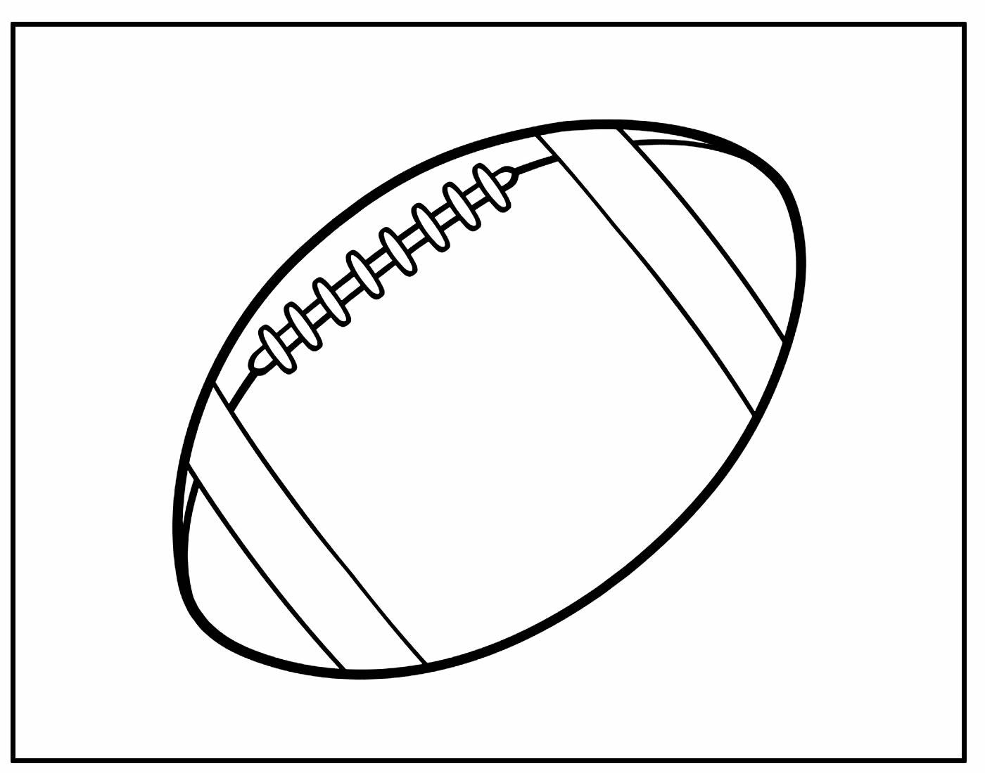 Página para colorir de Bola de Futebol Americano