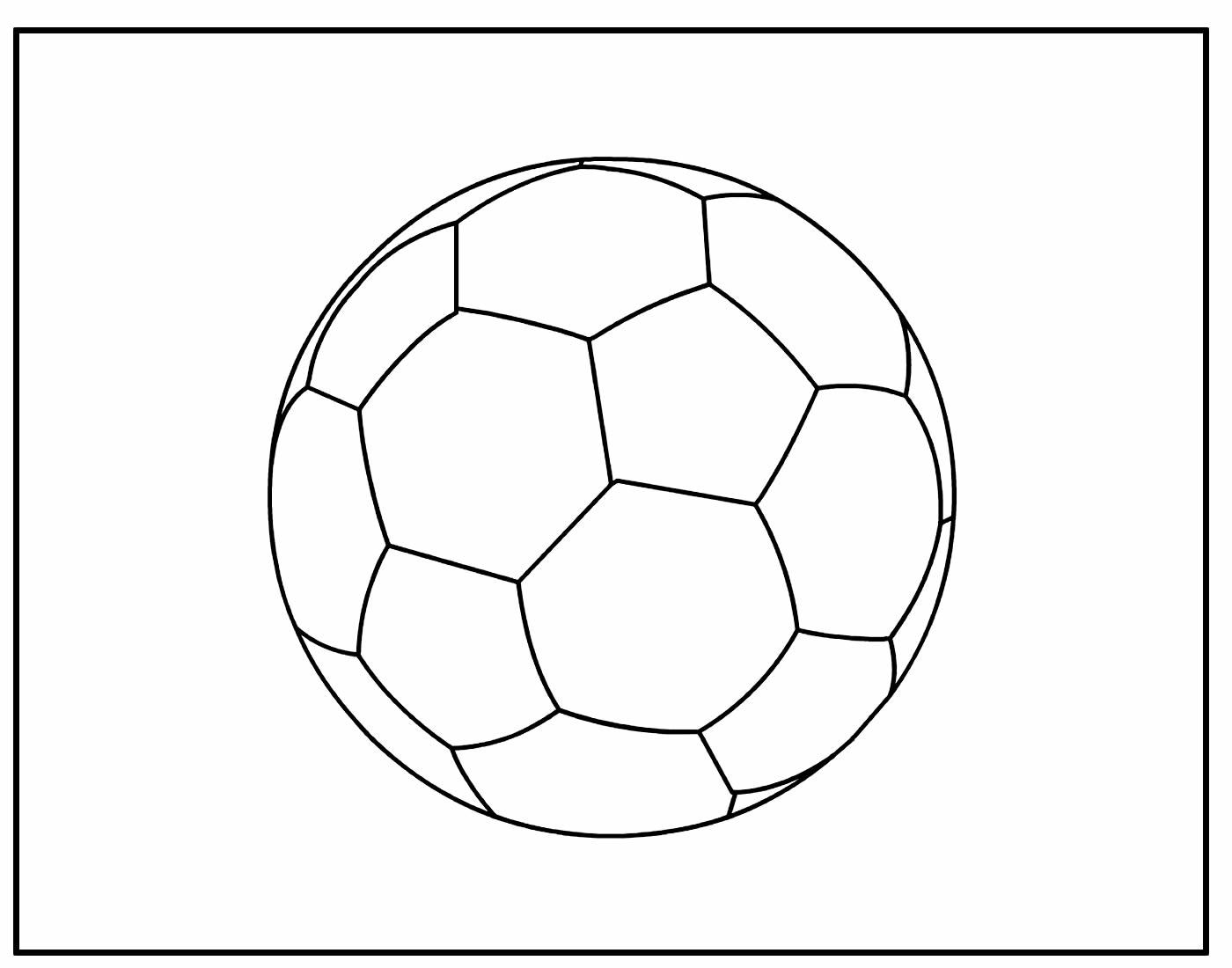 Página para colorir de Bola de Futebol