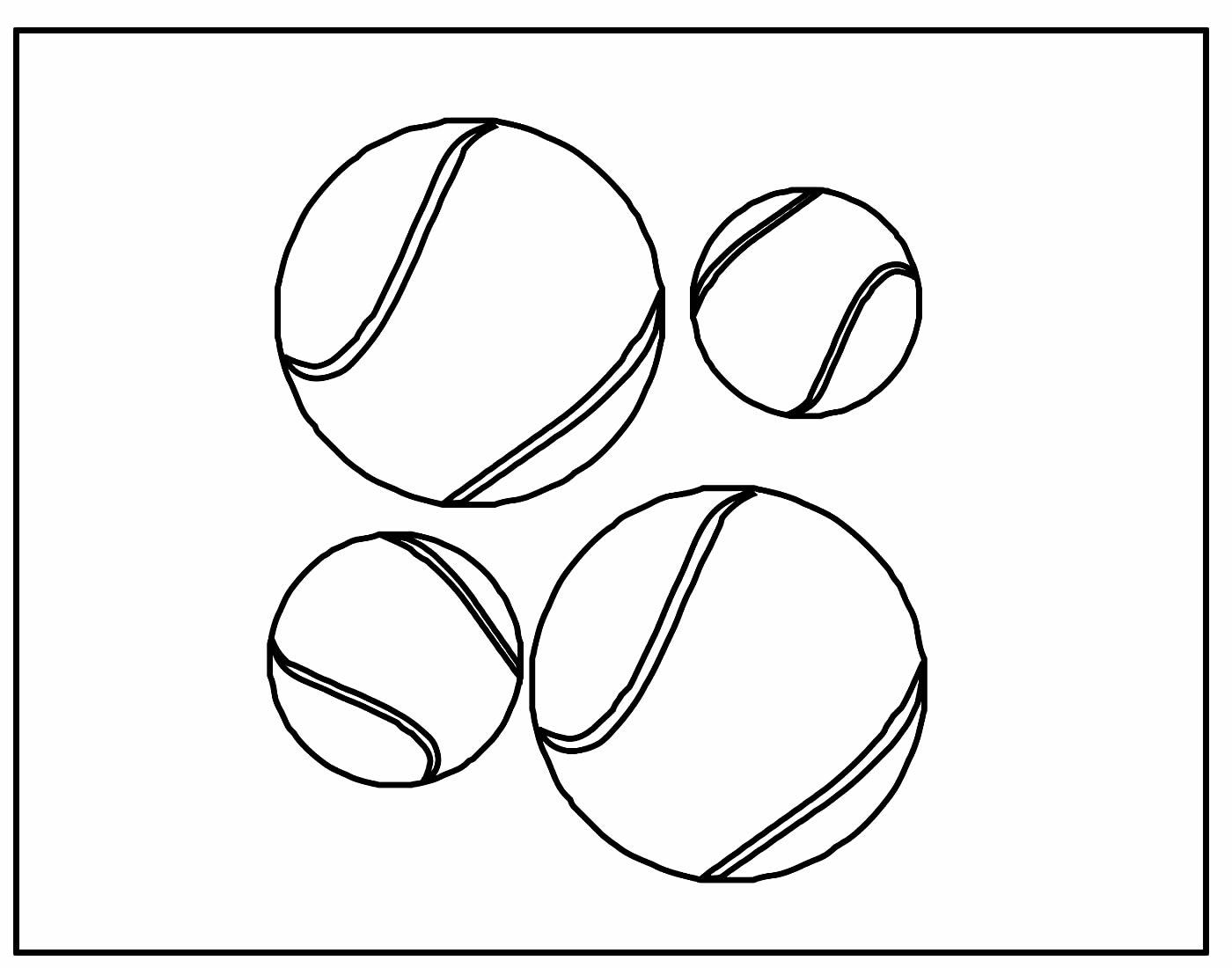 Página para colorir de Bola